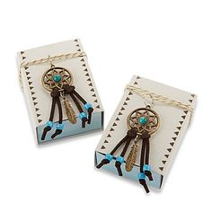 The boho-inspired Dreamcatcher Fabric Favor Boxes from Kate Aspen bring an…