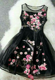 Love this black cherry blossem dress.