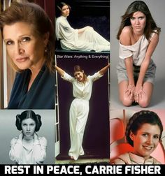 Rest in peace, Carrie Fisher/Princess Leia :( you are one with the Force. Star Wars Love, Star Wars Girls, Star Wars Art, Star Trek, Carrie Frances Fisher, The Blues Brothers, Debbie Reynolds, Actrices Hollywood, Love Stars