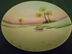 Meito China Plate Hand Painted Made In Japan by SETXTreasures