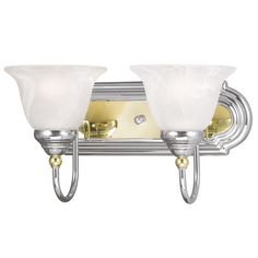 Livex Lighting 1002-52 Belmont Bath Light in Chrome & Polished Brass
