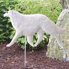 4 Coat Styles-Borzoi Dog Figure Yard Garden Stake. Home Yard & Garden Dog Products & Gifts.