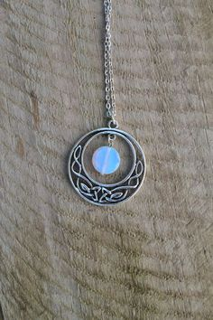 Silver celtic knot moon pendant necklace jewelry handmade new silver celtic knot moon pendant necklace jewelry handmade new accessories celtic knots silver jewelry and pendants aloadofball Image collections