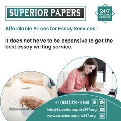 superiorpapers247@gmail.com Call Or WhatsApp: +1 628 270 4648 Best Essay Writing Service, Paper Writing Service, Academic Writing Services, Business And Economics, Custom Writing, Term Paper, Good Essay, Writing Help, Research Paper