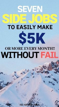 Looking for jobs that pay well business ideas for entrepreneurs best side hustle ideas to make money from home. Here are 7 epic money making ideas to earn big bucks work from home earn passive income and make extra cash. Go ahead and take a look Earn Money From Home, Earn Money Online, Online Jobs, Way To Make Money, How To Make, Money Fast, Need Money Now, Cash Money, Online Earning