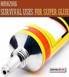 Super Glue: A Prepper's Best Friend?   Amazing Survival Uses for Super Glue, Survival Prepping Ideas, Survival Gear, Skills & Emergency Preparedness Tips By Survival Life http://survivallife.com/2014/10/11/benefits-of-super-glue