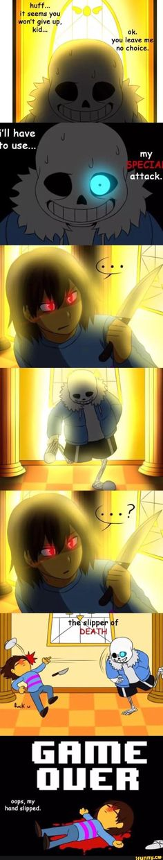 Undertale, Sans *whispers* why is Death the Kid there?
