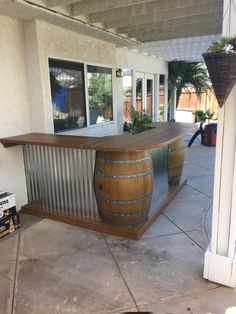 Smart Basement Bar Ideas Making Your Cellar Pub Sparkle - Smart Basement Bar Ide. Smart Basement Bar Ideas Making Your Cellar Pub Sparkle – Smart Basement Bar Ideas Making Your Ce Backyard Bar, Patio Bar, Wedding Backyard, Wedding House, Diy Patio, Backyard Projects, Home Projects, Outdoor Projects, Wine Barrel Bar