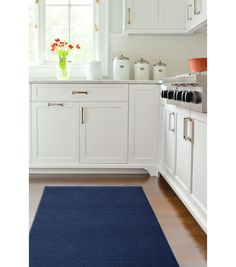 Ruggable 2pc Washable Rug System-Solid Chenille Navy Blue