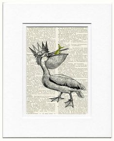 Pelican King dictionary page print by FauxKiss on Etsy