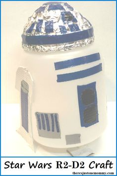 Star Wars Craft: Make your own R2-D2 craft, perfect for Star Wars party