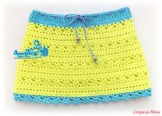 """Всем доброго времени суток! Довзалась у меня юбочка для доченьки на основе узора """"тюльпанчики"""", отсюда и название. Пряжа Джинс, крючок 2,25-2,5. Расход 80гр Схема, на основе которой вязала"""