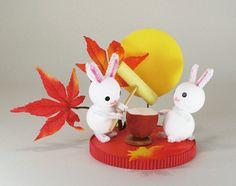 うさぎの餅つきセット♪イベント・装飾店舗装飾ディスプレイお月見うさぎ