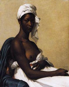 BENOIST, Marie-Guillemine -   [French Neoclassical Painter, 1768-1826] Portrait of a Negress 1800 Oil on canvas, Musée du Louvre
