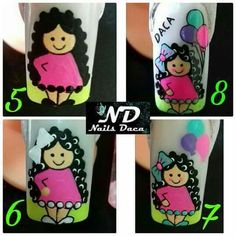 Nail Art Pictures, Painted Nail Art, Nails 2018, Manicure Y Pedicure, Stiletto Nails, Nail Designs, Jenni, Painting, Nail Bling