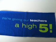 T Shirt Logo  Give Teachers a High 5 by IdleHandsYarnSupply, $1.25