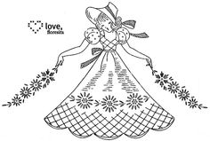 Crinoline lady by floresita's transfers, via Flickr