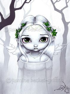 The Last Leaves gothic fairy fantasy art print by strangeling, $13.99