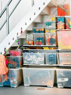 Under basement stairs??? IHeart Organizing: Our Storage Spaces: Truth and a Plan