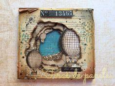 shaker card vintage Shaker Cards, Craft Ideas, Frame, Crafts, Vintage, Paper Strips, Paper Envelopes, Notebooks, Cards