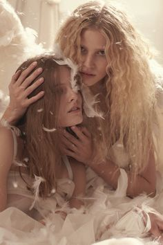 juliet ingleby and lara stone photographed by sebastian faena.