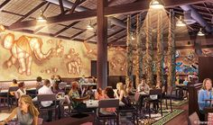 Walt Disney World will be adding a new signature restaurant for guests to enjoy at Animal Kingdom in 2016. No exact word on what's beingplanned for the menu at Tiffins restaurant but a fewdetails...