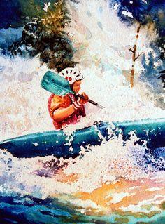 The Kayak Racer-18 by Hanne Lore Koehler  ~ kayaking