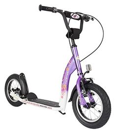 Kick Scooters - Bikestar 12 inch 305cm Kids Kick Scooter Purple and White *** Check out this great product.