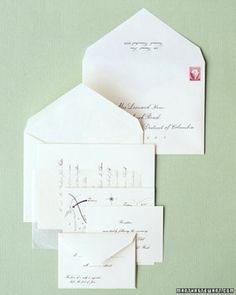 "See the ""Assembling the Invitation"" in our Addressing and Mailing Your Wedding Invitations gallery"