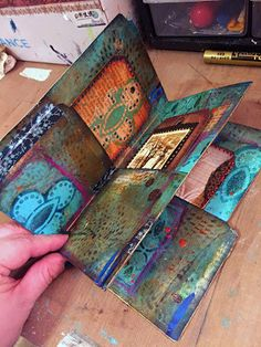 StencilGirl Talk: Gwen's Gems: File Folder Mini Art Journal