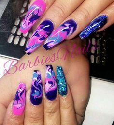 the Paint-inspired Nails! Glam Nails, Bling Nails, My Nails, Hair And Nails, Nail Swag, Gorgeous Nails, Fabulous Nails, Fire Nails, Luxury Nails