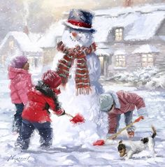 Frosty by The Macneil Studio Framed Art Christmas Artwork, Christmas Paintings, Christmas Pictures, Christmas Scenes, Christmas Snowman, Winter Christmas, Christmas Quotes, Winter Illustration, Illustration Art