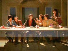 That Show's The Last Supper. The Last Supper, Leonardo De Vinci High Renaissance Steven Hyde, Movies Showing, Movies And Tv Shows, Battlestar Galactica, That 70s Show Quotes, Thats 70 Show, Simpsons, Cinema Tv, Last Supper