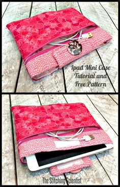 Ipad Mini Case Tutorial with Free Pattern | The Stitching Scientist #ipadminicase #diy #case #ipadcase