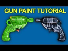 LASER RAY GUN Movie Prop - REALISTIC GUNS Paint Tutorial - QUICK FIX