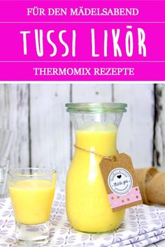 Tussi liqueur from the Thermomix. Fruity peach passion fruit liqueur with yoghurt. - thermomix tips - Easy Recipes Easy Alcoholic Drinks, Alcoholic Punch, Party Drinks Alcohol, Cocktail Drinks, Fun Drinks, Cocktail Recipes, Cocktails, Drink Recipes, Liqueur