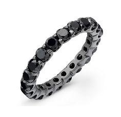 Black Diamond Eternity Ring ~ http://www.touchofgold.com/jewelry-gallery/black-diamond-eternity-ring.html
