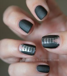 These zipper nails are so fierce!