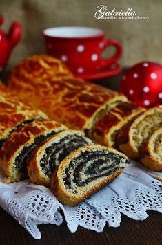 Gabriella kalandjai a konyhában :): Bejgli Hungarian Desserts, Hungarian Recipes, Best Chicken Recipes, Sweet Recipes, Sweet Cookies, Yummy Food, Tasty, Artisan Bread, Creative Cakes