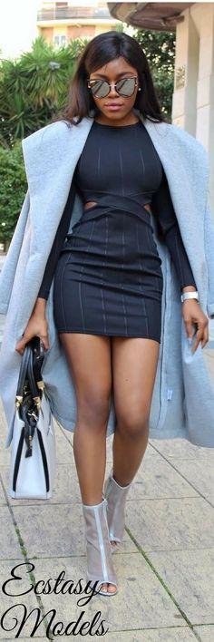 Grey & Black // Fashion Look by Mariita Pazz