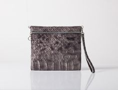 GRAY Leather clutch bag Evening bag Leather purse Sale by MeitaLev, $99.00