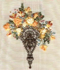 Silk Ribbon Embroidery Patterns | did this ribbon embroidery a long time ago - from a kit. I don ...
