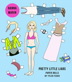 Pretty Little Liars Hanna paper doll