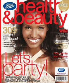 Fatima Siad covers Boots Health and Beauty Magazine winter issue.    Image credit Boots Health