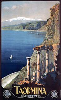 Vintage Venus: Palermo & Taormina, Italy. Vintage Travel Posters