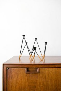 Laurids Lonborg Danish Modern Cane and Iron by GlitteryMoonVintage