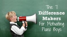 """One reader said """"Oops... I've clearly been ignoring what my boy piano students need!""""  Great reminders here... pin now for when you need it!"""