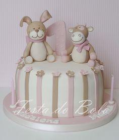 luv this one! Fondant, Twins 1st Birthdays, Cute Twins, Shower Cakes, Party Cakes, Cupcake Cakes, Cupcakes, Yummy Cakes, Cake Decorating