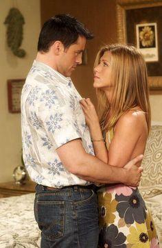 Jennifer Aniston as Rachel Greene and Matt LeBlanc as Joey; Friends