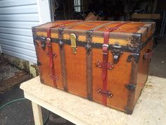 Would love a steamer trunk like this for a coffee table.